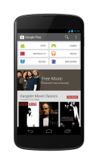 Google Play Store 4.0 running on the Nexus 4.