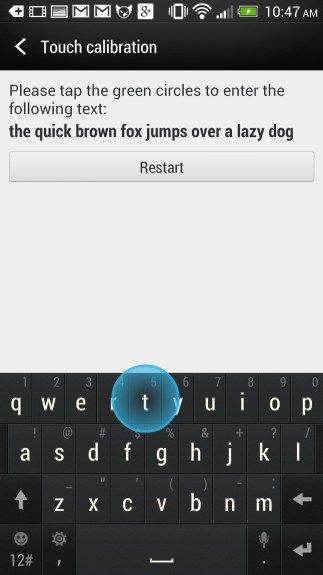 HTC One Setup - Calibrate the keyboard for a better typing experience.