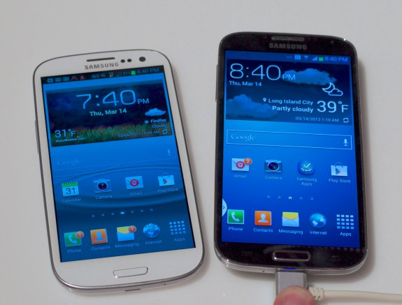 The Samsung Galaxy S4 features a bigger, better display with a 1080P HD resolution.