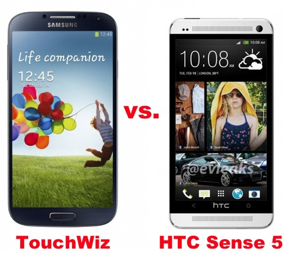 The Samsung Galaxy S4 and HTC One compete with special software features.