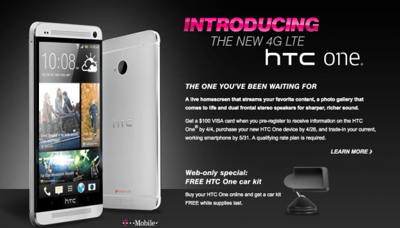 The HTC One still doesn't have an official release date on T-Mobile.