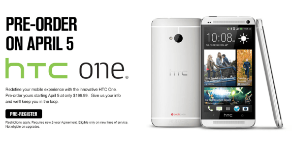 The Sprint HTC One will arrive later this month.