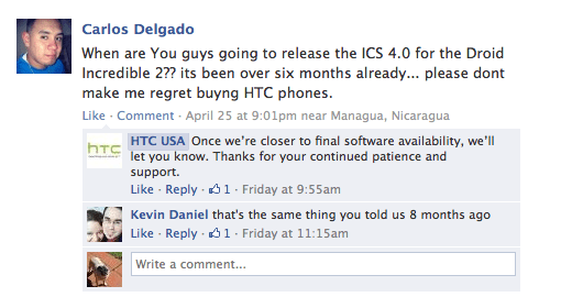 The Droid Incredible 2 ICS update remains a sore subject amongst HTC users.