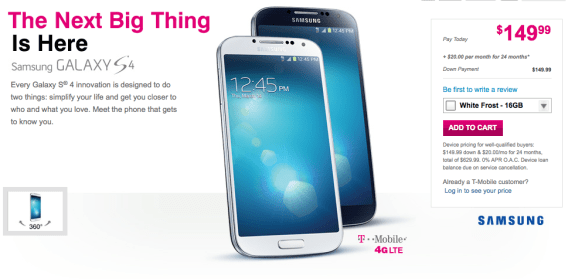 The T-Mobile Galaxy S4 is now on sale, but for how long?