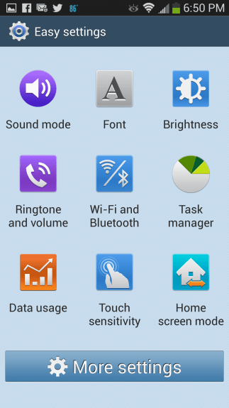 Even the daunting Settings menu has been simplified for Easy Mode users