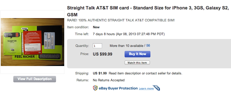 Straight Talk iPhone Less Attractive Without AT&T SIM Card