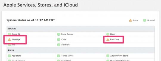 apple status page