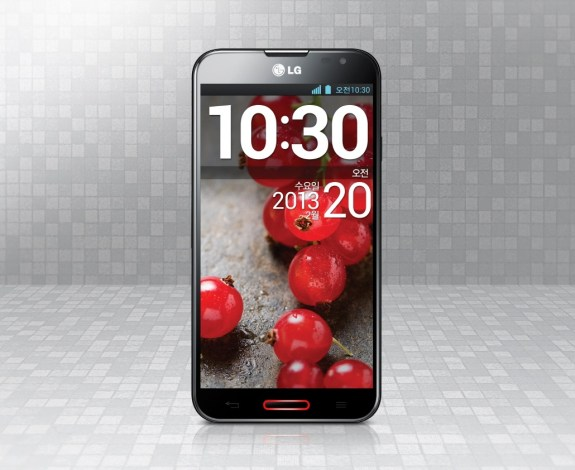 The LG Optimus G Pro looks like it will touch down in May.