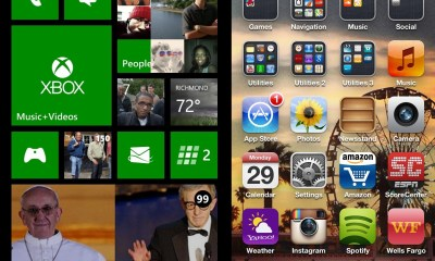 Those familiar with iOS 7 compare the flatness of the new iOS version to Windows Phone.