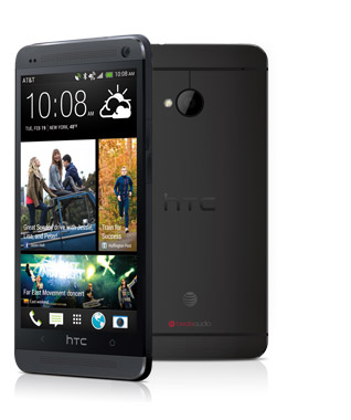 "The HTC One in ""Stealth Black"""
