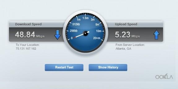 linksys wifi speed test