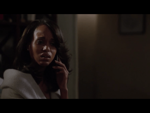 Various nondescript Windows Phone 8 smartphones are also featured on ABC's Scandal. Here, series star Kerry Washington is speaking on her Windows Phone 8 device, though it's not easy for viewers to tell that it's a Microsoft OS underneath that black box.