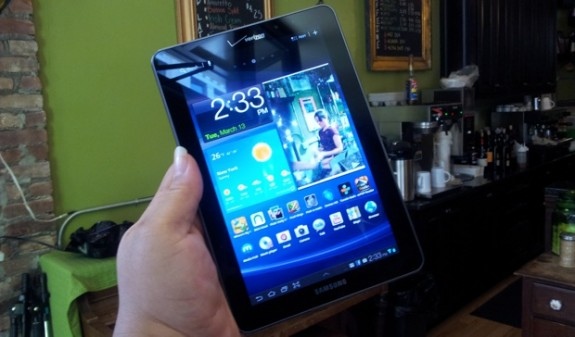 The Samsung Galaxy Tab 7.7 Jelly Bean update has started to roll out.