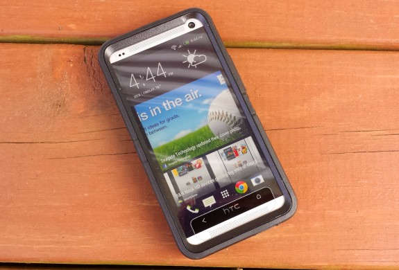 This HTC One case from Otterbox features a built-in screen protector.