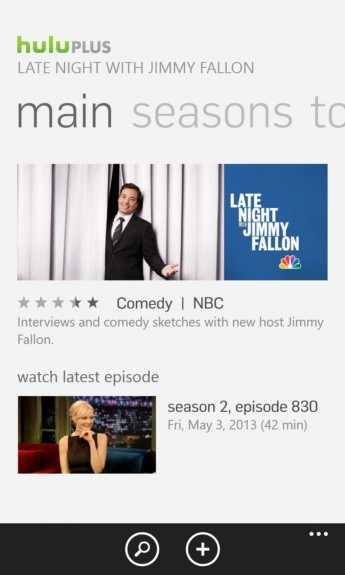HULU Plus for Windows Phone