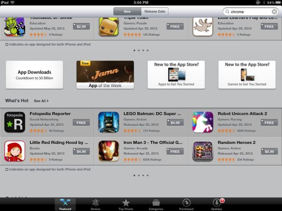 iTunes App Store Link to 50 Billion Downloads Page