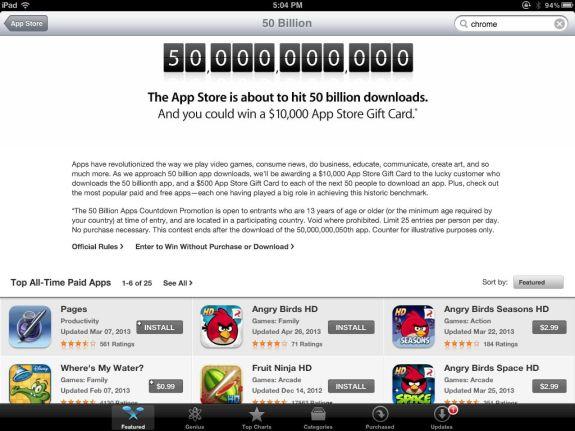 50 Billion Apps Downloaded