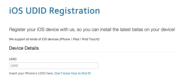 The iOS 7 beta registration is underway at iMZDL, even though Apple has yet to announce the new version of iOS.