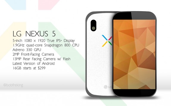 A Nexus 5 concept from Bob Freking.
