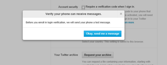 STwitter Two-Step Authentication Six