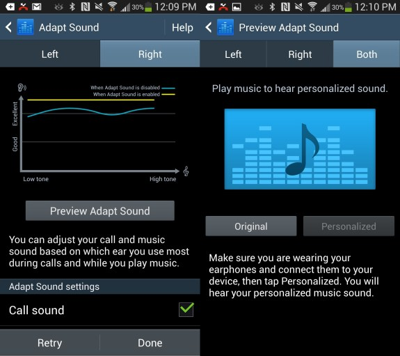 Fine tune the Galaxy S4 sound with Adapt sound.