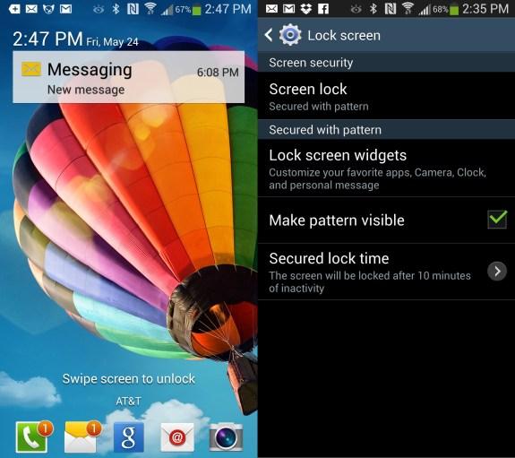 Customize the Galaxy S4 lock screen.