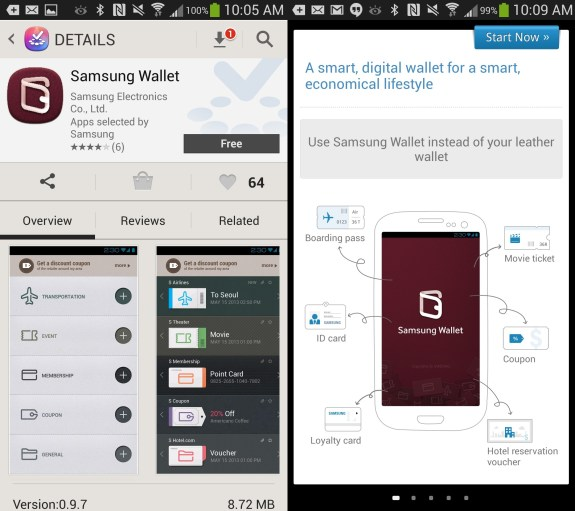 Search for Samsung Wallet in the Samsung App store to get the Samsung Wallet on compatible Galaxy devices in the U.S.