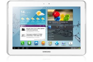 Image is of the Galaxy Tab 2 10.1; a Galaxy Tab 3 10.1 is speculated to run on Intel chip.