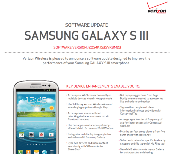 The Verizon Galaxy S3 is about to get a massive update, complete with Multi-Window View.