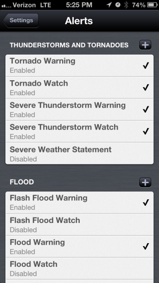 Weather Notifications