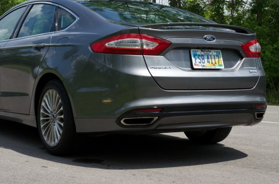The 2013 Ford Fusion rear is as appealing as the front.