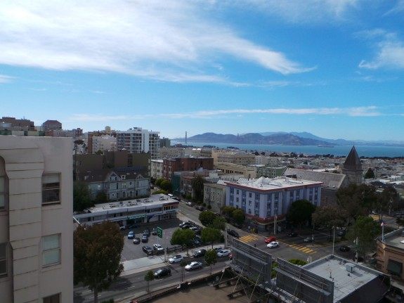 Welcome to San Francisco. Life as a cell tower isn't so bad if you have these stunning views.