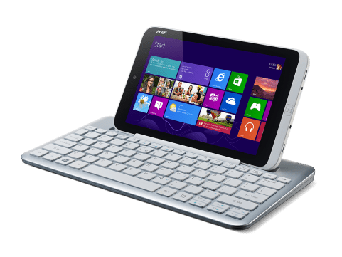 Acer Iconia W3-810_left facing_kb