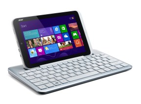 Acer Iconia W3 tablet Win 8 keyboard docked