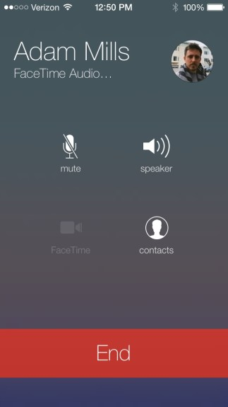 FaceTime Audio iOS 7 Sample Call