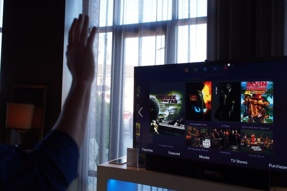Samsung's latest HD smart TV sets allows for accurate motion and gesture tracking thanks to a built-in camera with IR sensor