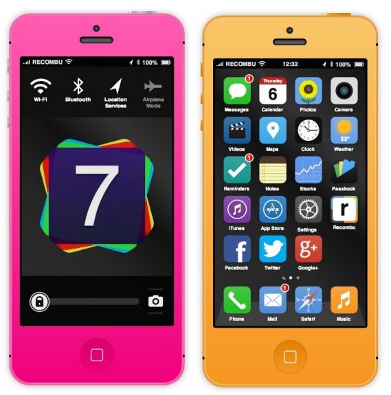 iOS 7 concept via Recombu