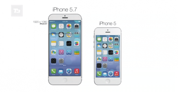 This iPhone 5.7 concept combines iPhone 6 rumors and iOS 7.