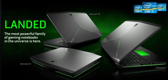 Alienware's 2013 lien of portable gaming machines.