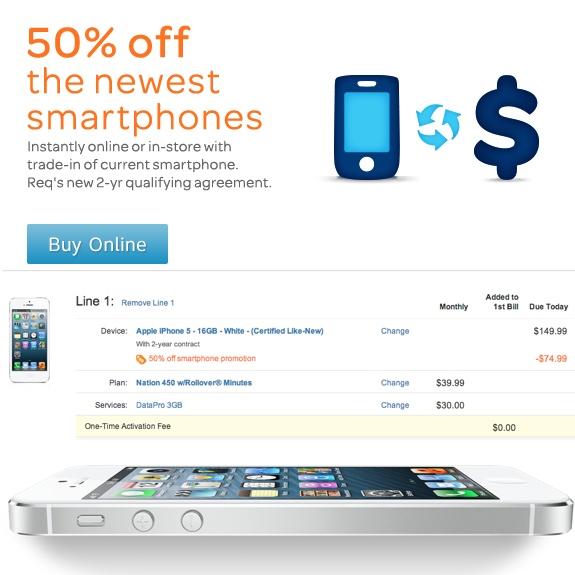 $75 iPhone 5 Deal at AT&T
