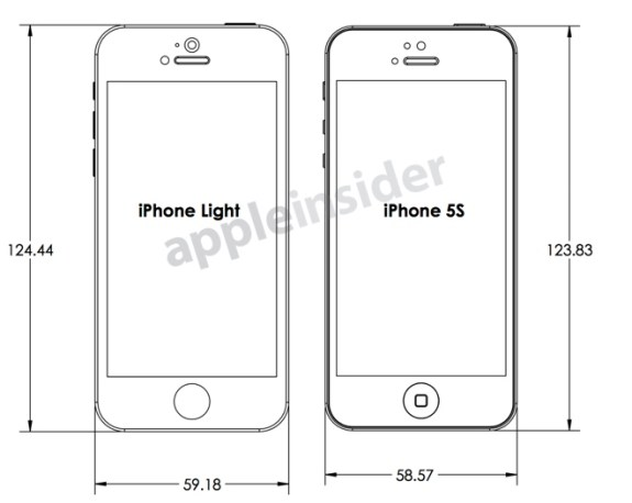 iPhone 5S blueprint shows the design and dimensions one case maker expects from Apple.