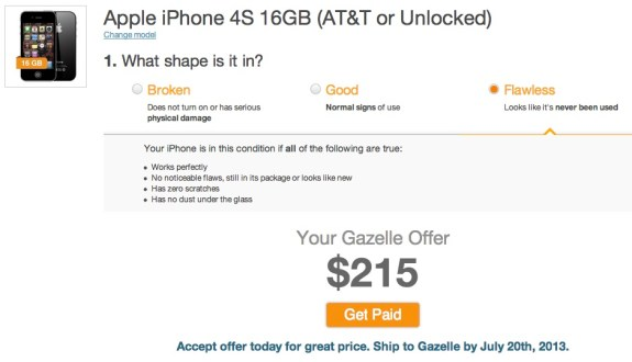 Gazelle offers a better trade in value for the iPhone 4S.