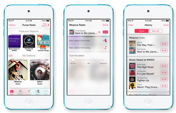 iTunes Radio comes in iOS 7 with streaming stations that are ad-free for $25 a year.