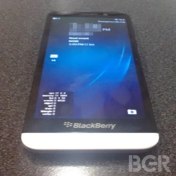 BlackBerry A10 leak