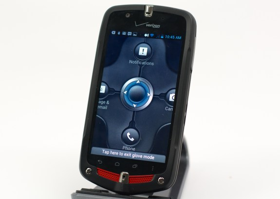 Glove mode simplifies tapping on important apps.