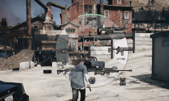 The new way to pick weapons in GTA 5.