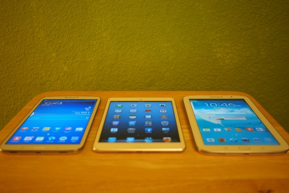 Galaxy Tab 3 8.0 v. iPad mini v. Galaxy Note 8.0