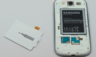 This is a small and cheap Qi Samsung Galaxy S3 wireless charger.