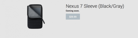 New Nexus 7, Its First Official Accessories
