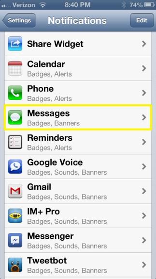 Tap Messages
